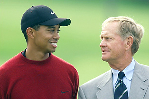 Tiger Woods & Jack Nicklaus
